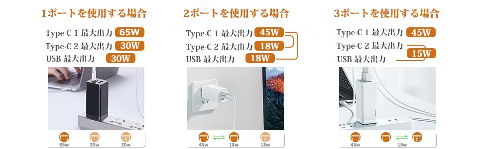 Baseus 65W 充電器 (PPS対応)