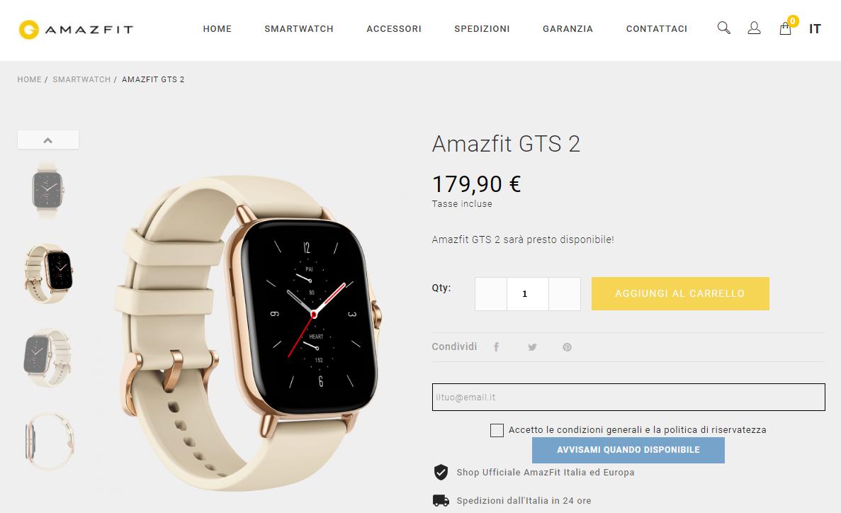 amazfit gts2 価格