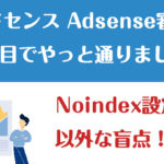 アドセンス 価値の低い広告枠「複製されたコンテンツ」の注意点。Noindexの盲点 Adsense審査 5回目でやっと通りました。