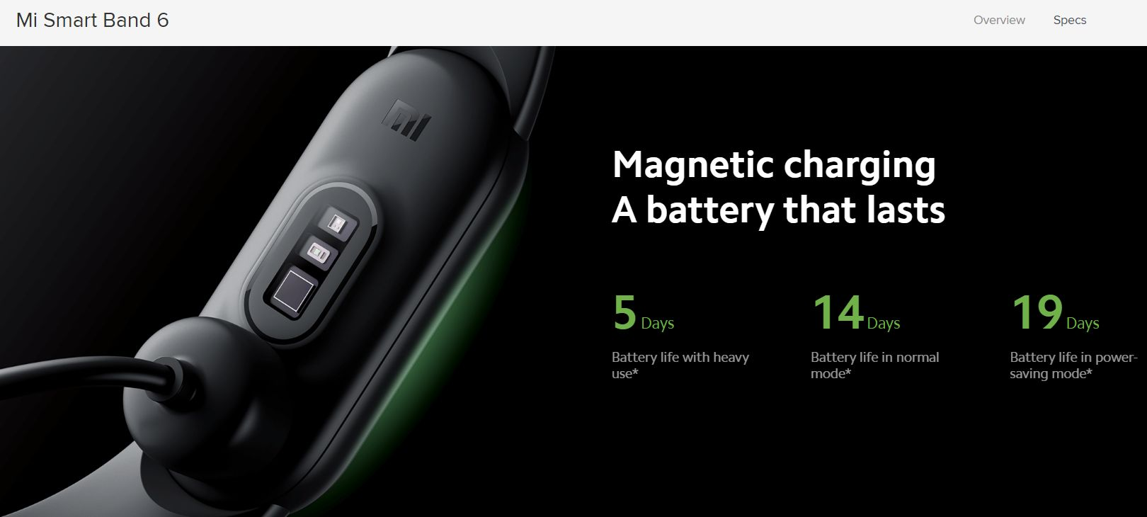 Xiaomi公式サイトバッテリー表記 修正後