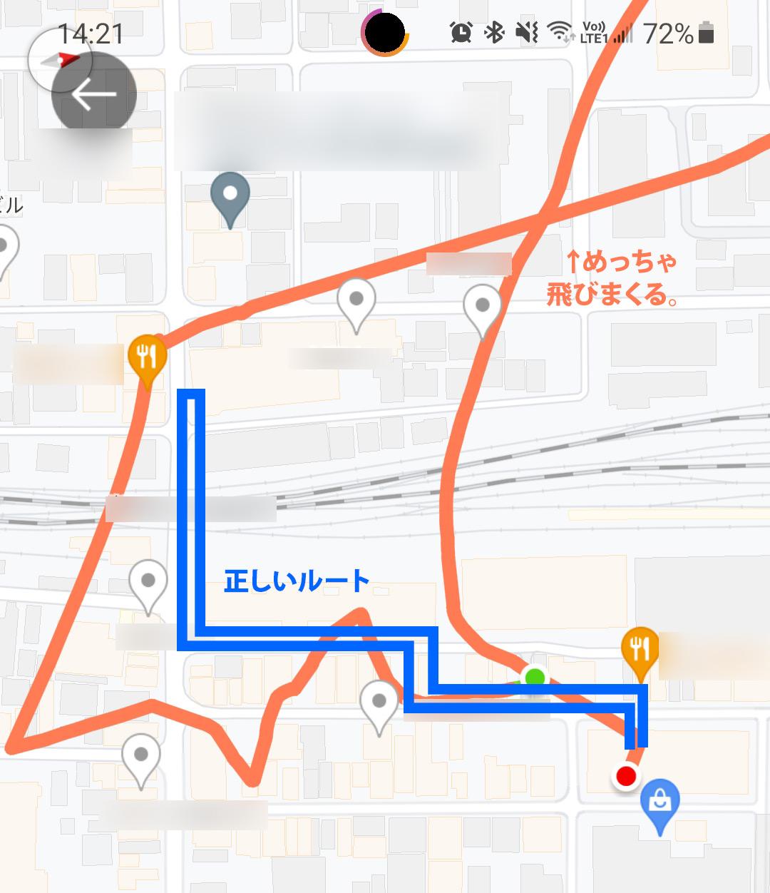 GPS精度が悪い