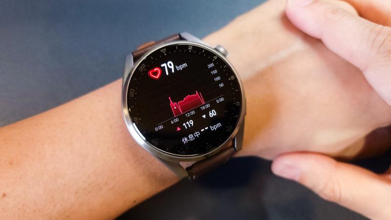 Huawei Watch3 Pro 心拍数測定