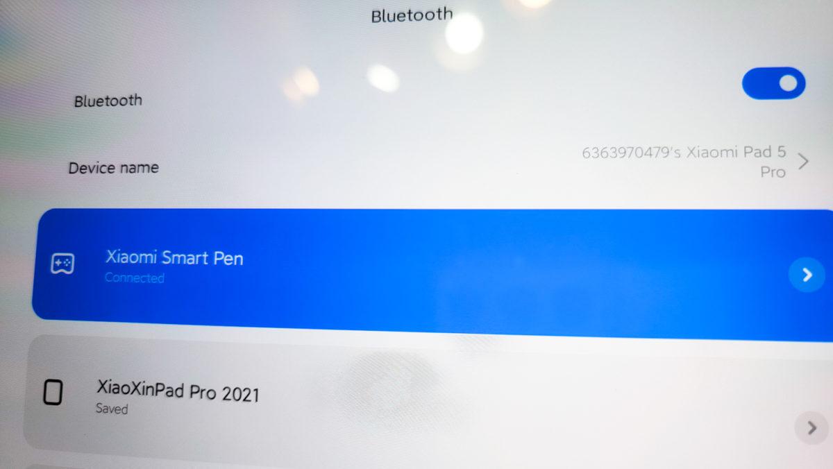Xiaomi Pad 5 スタイラス接続方法